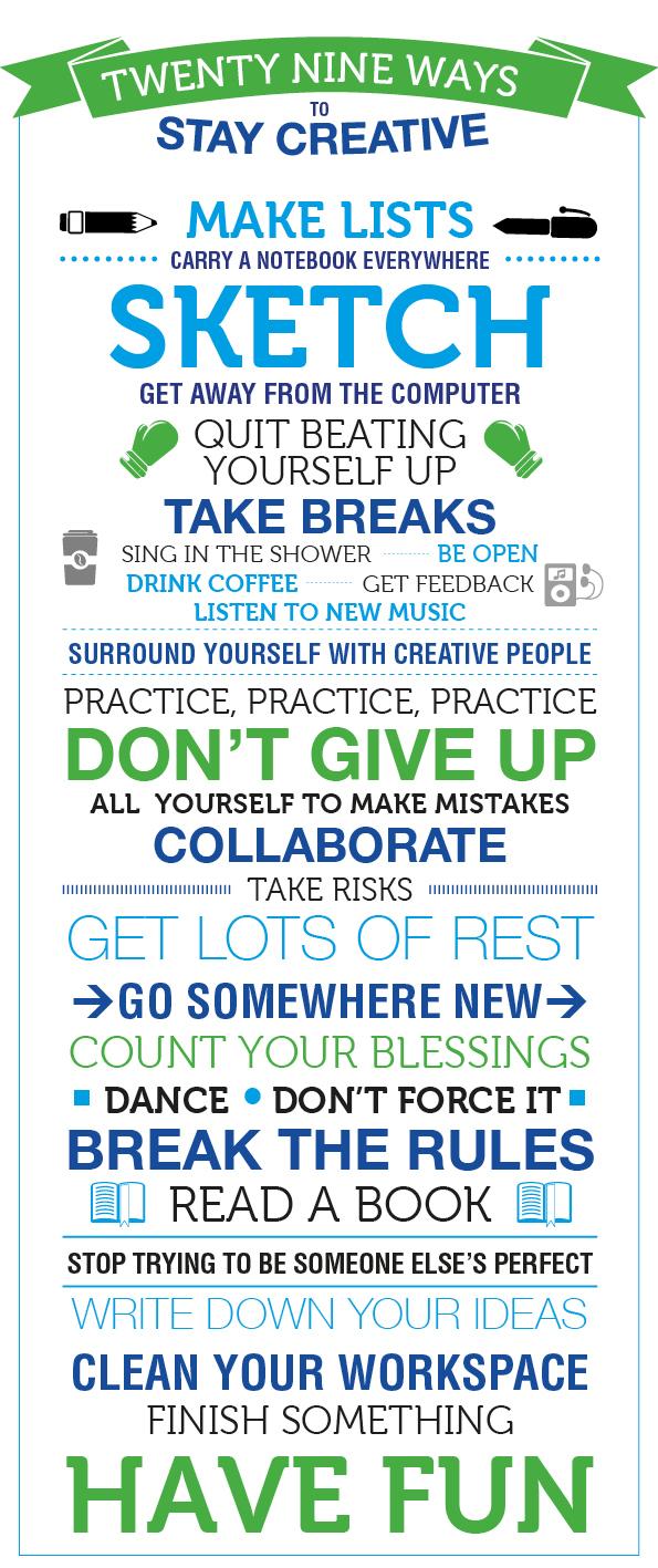 Ways to be Creative