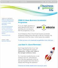 Business Gateway Fife Enews