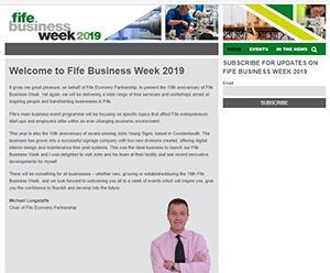 Fife Business Week 2019 Website